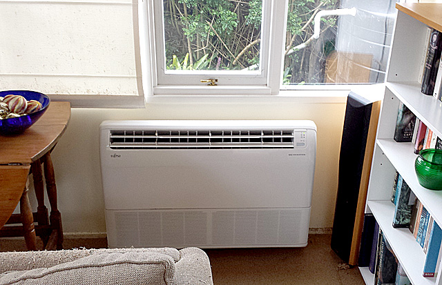 New Fujitsu floor-mounted aircon unit for conservatory space